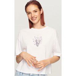 T-shirt z nadrukiem - Biały. Białe t-shirty damskie Reserved, l, z nadrukiem. Za 29,99 zł.