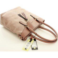 Shopper bag damskie: Elegancka torebka shopper na co dzień różowa SERENITY