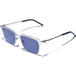 Okulary przeciwsłoneczne męskie aviatory: Okulary męskie w kolorze srebrno-szarym