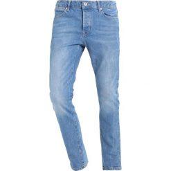 Topman ZINGY Jeansy Slim Fit blue denim. Niebieskie rurki męskie Topman. W wyprzedaży za 206,10 zł.