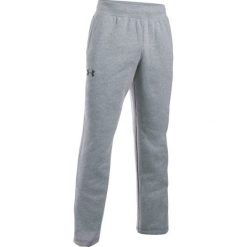 Odzież męska: Under Armour Spodnie Treningowe Storm Rival Cotton Pant True Gray Heather Black M