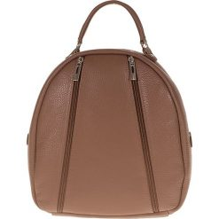 """Plecaki damskie: Skórzany plecak """"Rhianna"""" w kolorze szarobrązowym – 25 x 28 x 15 cm"""