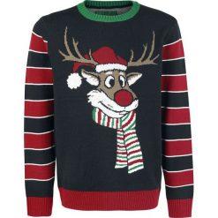 Ugly Christmas Sweater Pooping Rudolph Sweter z dzianiny wielokolorowy. Brązowe swetry klasyczne męskie Ugly Christmas Sweater, s, z dzianiny. Za 184,90 zł.