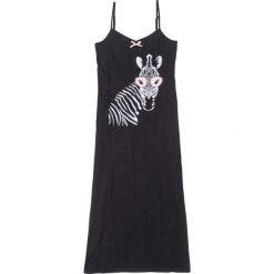 Koszule nocne i halki: Koszula nocna na cienkich ramiączkach bonprix czarny z nadrukiem