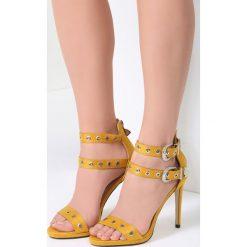 Żółte Sandały French Kiss. Żółte sandały damskie vices, na wysokim obcasie. Za 89,99 zł.