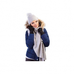 Czapka damska zimowa. Szare czapki zimowe damskie TXM. Za 9,99 zł.