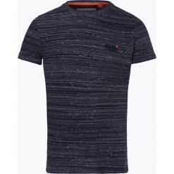 Superdry - T-shirt męski, niebieski. Niebieskie t-shirty męskie Superdry, m, z haftami. Za 99,95 zł.