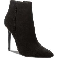 Botki EVA MINGE - Maribel 17BD1372198EF 801. Czarne buty zimowe damskie marki Eva Minge, z materiału, na obcasie. W wyprzedaży za 279,00 zł.
