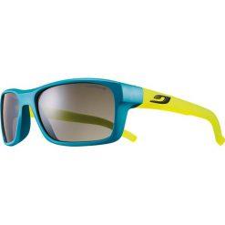 """Okulary przeciwsłoneczne damskie: Okulary przeciwsłoneczne """"Cobalt"""" w kolorze niebiesko-żółto-szarym"""