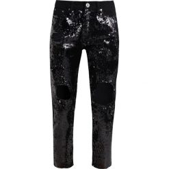 Odzież damska: Liquor N Poker LAX MOM WITH SEQUIN Jeansy Relaxed Fit washed black