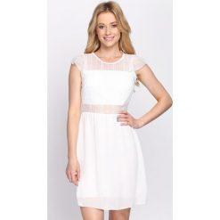 Sukienki: Biała Sukienka Sound Of Siren