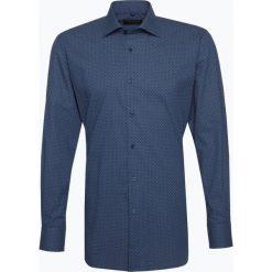 Van Graaf - Męska koszula z poszetką – Manifattura Tessuti Italiani, niebieski. Szare koszule męskie wizytowe marki Guess Jeans, l, z aplikacjami, z bawełny, z klasycznym kołnierzykiem, z długim rękawem. Za 299,95 zł.