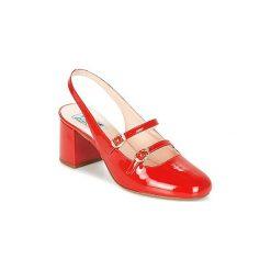 Sandały Miss L'Fire  DOLLY. Czerwone rzymianki damskie Miss L'Fire. Za 545,30 zł.