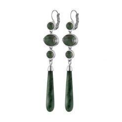 Kolczyki damskie: Kolczyki w kolorze srebrnym z agatami