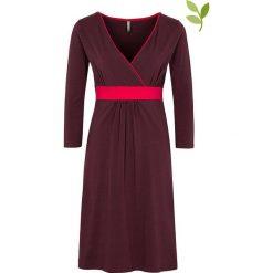 """Sukienki hiszpanki: Sukienka """"Talia"""" w kolorze ciemnofioletowym"""