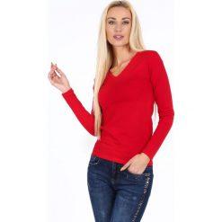 Bluzka z długim rękawem czerwona 4038. Czerwone bluzki asymetryczne Fasardi, l, z długim rękawem. Za 29,00 zł.