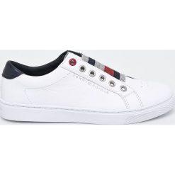 Tommy Hilfiger - Buty. Szare buty sportowe damskie marki TOMMY HILFIGER, m, z nadrukiem, z bawełny, casualowe, z okrągłym kołnierzem. Za 449,90 zł.