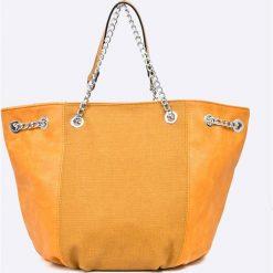 Answear - Torebka. Brązowe torebki klasyczne damskie ANSWEAR, z materiału, średnie. W wyprzedaży za 69,90 zł.