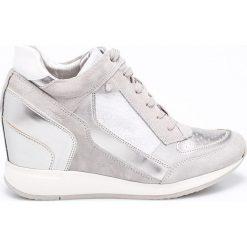 Geox - Buty. Szare buty sportowe damskie Geox, z gumy. W wyprzedaży za 379,90 zł.