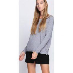 Szary Sweter What Chance. Szare swetry klasyczne damskie Born2be, l, ze stójką. Za 59,99 zł.