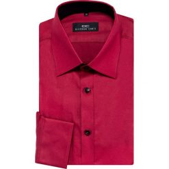 Koszula APOLLO 16-01-05-K. Czerwone koszule męskie na spinki Giacomo Conti, m, z bawełny, z włoskim kołnierzykiem, z długim rękawem. Za 229,00 zł.