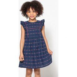 Sukienki dziewczęce: Sukienka z rękawami ozdobionymi falbankami 3-12 lat