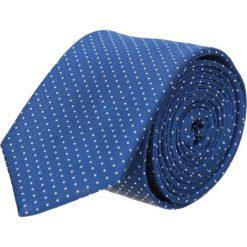 Krawat platinum niebieski classic 201. Niebieskie krawaty męskie Recman, z tkaniny, eleganckie. Za 49,00 zł.