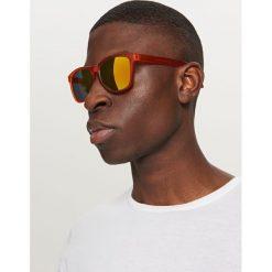 Okulary przeciwsłoneczne - Pomarańczo. Brązowe okulary przeciwsłoneczne męskie Reserved. Za 49,99 zł.