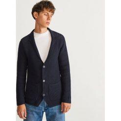 Sweter zapinany na guziki - Granatowy. Niebieskie swetry rozpinane męskie marki Armor lux, m. Za 99,99 zł.