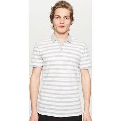 Koszulki polo: Koszulka polo w paski – Jasny szar