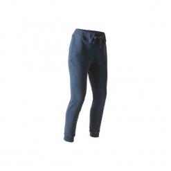 Spodnie slim Gym & Pilates 520 damskie. Niebieskie bryczesy damskie DOMYOS, l, z bawełny, na jogę i pilates. Za 84,99 zł.