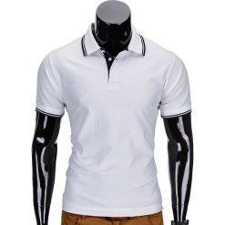 KOSZULKA MĘSKA POLO BEZ NADRUKU S710 - BIAŁA. Zielone koszulki polo marki Ombre Clothing, na zimę, m, z bawełny, z kapturem. Za 49,00 zł.