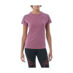 Asics Koszulka damska STRIPE SS TOP Prune Heather r. L. Szare topy sportowe damskie marki Asics, z poliesteru. Za 90,74 zł.