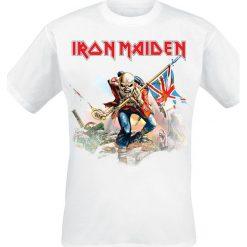 Iron Maiden Trooper On White T-Shirt biały. Białe t-shirty męskie z nadrukiem Iron Maiden, xxl, z okrągłym kołnierzem. Za 89,90 zł.