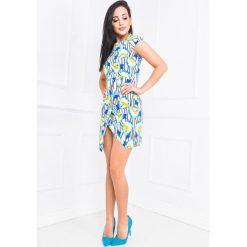 Sukienki: Sukienka asymetryczna w kwiaty