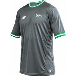 Koszulka Lechia Gdańsk - EMT8000ALY. Szare koszulki do piłki nożnej męskie New Balance, na jesień, m, z materiału. Za 199,99 zł.