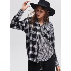 Koszula z wiskozy oversize - Czarny. Czarne koszule damskie Reserved, z wiskozy. Za 99,99 zł.