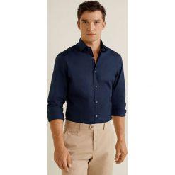 Mango Man - Koszula Play. Szare koszule męskie na spinki Mango Man, l, z bawełny, z klasycznym kołnierzykiem, z długim rękawem. Za 139,90 zł.