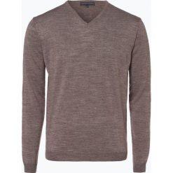 Finshley & Harding - Sweter męski z dodatkiem wełny merino, szary. Szare swetry klasyczne męskie Finshley & Harding, m, z dzianiny. Za 179,95 zł.