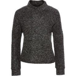 """Sweter """"boxy"""" bonprix antracytowy melanż. Szare swetry klasyczne damskie marki bonprix, ze stójką. Za 44,99 zł."""