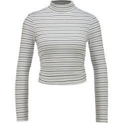 Bluzki asymetryczne: Miss Selfridge Petite STRIPE RUCHED SIDE ROLLNECK Bluzka z długim rękawem white