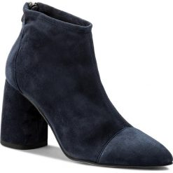Botki EVA MINGE - Langreo 3E 18GR1372413ES 807. Niebieskie botki damskie na obcasie marki Eva Minge, ze skóry. W wyprzedaży za 319,00 zł.