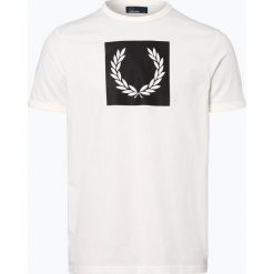 Fred Perry - T-shirt męski, beżowy. Brązowe t-shirty męskie z nadrukiem Fred Perry, m. Za 199,95 zł.