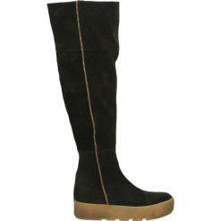 Kozaki - DEMY5 CRO NER. Czarne buty zimowe damskie Venezia, ze skóry. Za 269,00 zł.