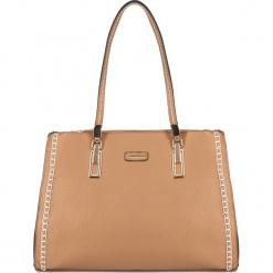 Torebka damska 83-4Y-650-9. Brązowe shopper bag damskie Wittchen, w paski, do ręki, zdobione. Za 149,00 zł.