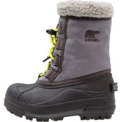 Sorel CUMBERLAND Śniegowce city grey. Czarne buty zimowe damskie marki Sorel, z materiału. W wyprzedaży za 181,30 zł.