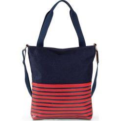 Shopper bag damskie: Torba shopper bonprix niebiesko-czerwony