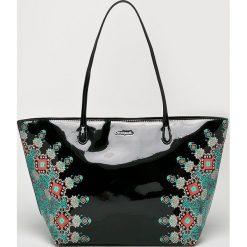 Desigual - Torebka. Szare torebki klasyczne damskie marki Desigual, l, z tkaniny, casualowe, z długim rękawem. Za 349,90 zł.
