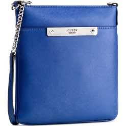 Torebka GUESS - Britta (VY) Mini-Bag HWVY66 93700 BLU. Niebieskie listonoszki damskie marki Guess, z materiału. W wyprzedaży za 199,00 zł.