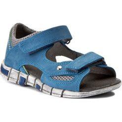 Sandały KORNECKI - 03988 M/Niebie/S. Niebieskie sandały męskie skórzane marki Kornecki. W wyprzedaży za 129,00 zł.